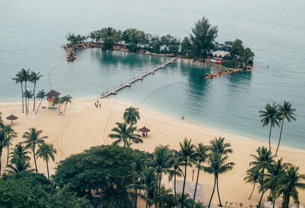 Künstlich erstellte Besucherinsel in Singapur